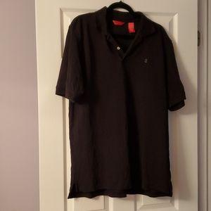 IZOD Black Golf Shirt L